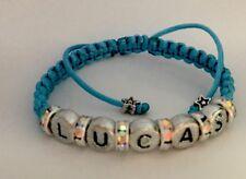 Name Personalised Shambala Fashion Bracelet Handmade Righstones Kid Baby Family❤