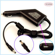 Notebook DC Power Adapter Car Charger +USB for Toshiba Satellite PA3468U-1ACA