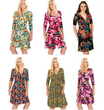 New Abstract Women's 3/4 Sleeve Knee Length All Year Round Work Casual Dress