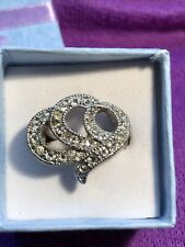 Used But In Gift Box Size P Pretty Clear Gem Ring In Silver Coloured Metal