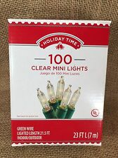 Holiday Time Traditional 100 Clear Mini Lights Indoor/Outdoor Wedding 66-574C