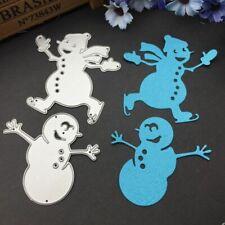 Christmas Snowman Cutting Dies DIY Stencil Scrapbooking Album Paper Card Crafts