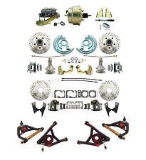 "GM 1964-72 A Body Front & Rear Disc Brake Kit 2"" drop Control Arms & 8"" Booster"