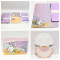 Vintage Olympicard Stationery Set Seashell Letter Envelopes Postcards Note Cards