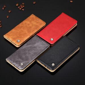 For LG V20 V30 V40 V50 ThinQ 5G Business PU Leather Wallet Case Flip Stand Cover