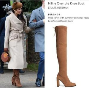 CELEBS $850 STUART WEITZMAN Hiline Over the Knee Boot NUTMEG SUEDE HOT 9 (K8)