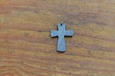 hand forged pentand cross in damascus steel new from the Eagle Collection ASM739