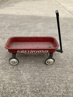 VINTAGE GREYHOUND RED METAL WAGON