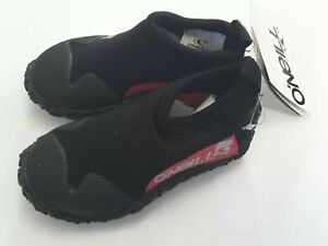 O'Neill Wetsuits Youth Reactor Reef Boot Mesh 2mm Water Shoes Black/Pink Size XS