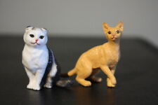 "pvc Scottish Fold cat figure Abyssinian 2"" inch - Lot Figurine"