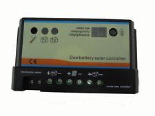 10 a Duo-batterie solaire contrôleur 12/24v, solaire régulateur de charge, pour deux batteries