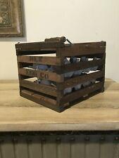 Rustic Wooden Slat Egg Crate Carrier Box Country Farmhouse Primitive Decor