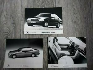 Mercedes-Benz S Class W140 Saloon B&W Press Photos Brochure Related Early 1990s