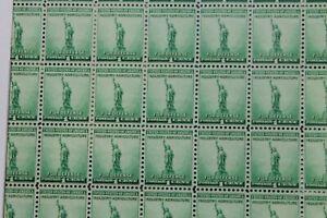 1940 FULL SHEET US STAMP $.01 CT SCOTT # 889 NATIONAL DEFENSE  STATUE LIBERTY
