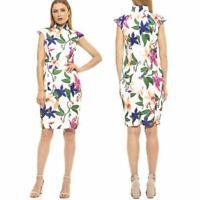 NEW Alexia Admor Katrina Floral Midi Sheath Dress Size S Retail $245