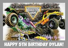 MONSTER JAM MONSTER TRUCK A4 EDIBLE IMAGE CAKE TOPPER BIRTHDAY PARTY KIDS ADULTS