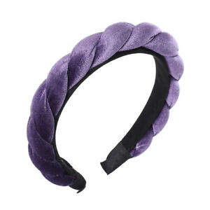 Women's Velvet Headband Hairband Cross Hair Band Hoop Accessories Headpiece Prom