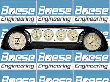 63-64 Ford Galaxie Aluminum Dash Insert Panel w/ Auto Meter Antique Beige Gauges