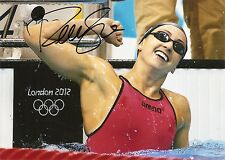 Rebecca Soni London Olympic 5x7 Photo Signed Auto