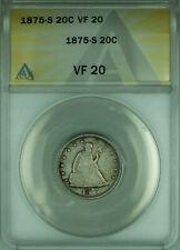 1875-S Twenty Cent Piece 20c Silver Coin ANACS VF-20 (B)