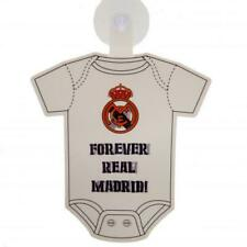 Real Madrid FC Official Crested Baby On Board Car Sign With Rubber Suction Pad