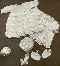 Vintage Baby Knitting Pattern LACY 4 piece Layette Gorgeous design