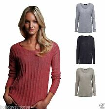 Polyester Long Sleeve Collarless Tops for Women