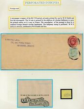 29. Perforated insignia foreign mail newspaper wrapper