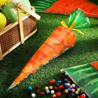 20/50/100x Easter Carrot Sweet Candy Gift Bags Kids Party Favour Subpackage Bag