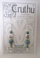 Cruthu - Irish Celtic Gaelic Jewelry - Earrings - Malachite - #514