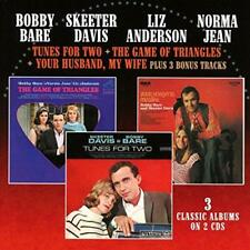 Bobby Bare Skeeter David Liz Anderson Norma Jean - Tunes For Two/Game  (NEW 2CD)