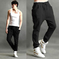 Mens Slim Fit Gym Tracksuit Bottoms Jogging Trousers Shorts Casual Sweat Pants