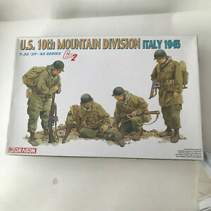 US 10th Mountain infantry model kit 1/35 scale 4x figures