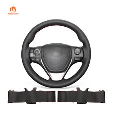 DIY PU Leather Steering Wheel Cover for Toyota RAV4 Corolla Auris Scion iM 2019
