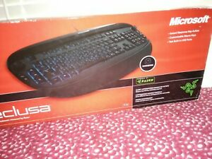 MICROSOFT RECLUSA GAMING KEYBOARD RAZER NEW