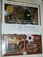 THE POLAR EXPRESS GIFT SET EDITION HARDCOVER,CD,TAPE & BELL FROM SANTAS SLEIGH