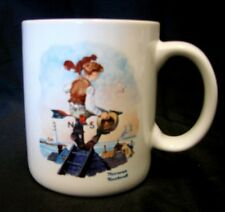 Norman Rockwell Mug Lure of the Sea Saturday Evening Post Cup 1986 Vintage