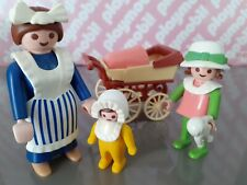 1989 Vintage Victorian Playmobil - Nanny and Children - 5502 - Complete
