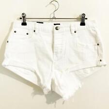 Rip Curl FREYA DENIM SHORT Womens Casual Shorts New - GWACQ1 White