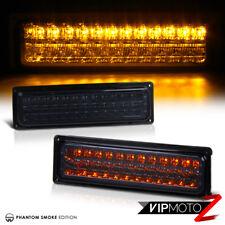 [DARK SMOKE] Amber LED Signal Parking Bumper Lights Lamps Chevy GMC C/K Suburban