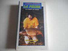 VHS K7/ CASSETTE VIDEO -LA PECHE / LA CARPE EN SEINE -KEVIN MADDOCKS ET SES AMIS