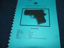 LLAMA  MINI-MAX, 45ACP,  AUTOMATIC PISTOL  MANUAL,    12 Pages