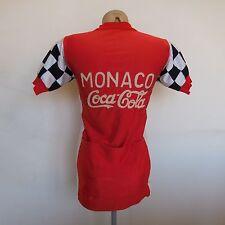 Maillot cycliste manches courtes MONACO COCA-COLA PATRICK NICOLAS 1984