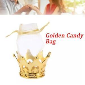 3 pcs Gold Crown Fillable Party Favors Princess Prince Baby Shower Table Decor