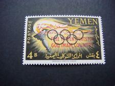 YEMEN 1962 Olympic Games Overprint 4b value SG R4 MNH Cat £6-25