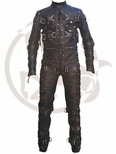 Leather Bondage Suit Jumpsuit Catsuit Lacing and Welded D rings Bespoke