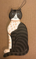 gray country primitive cat feline wood cats kitten wall decor plaque sign