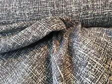 WOVEN TWEED DARK GRAY WHITE  UPHOLSTERY FABRIC