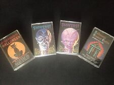 4 New Vintage Halloween Cassette Tapes Horror Monster Haunted House Party Music