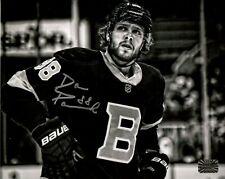 David Pastrnak Boston Bruins Signed Autographed B/W Close Up Alternate 8x10